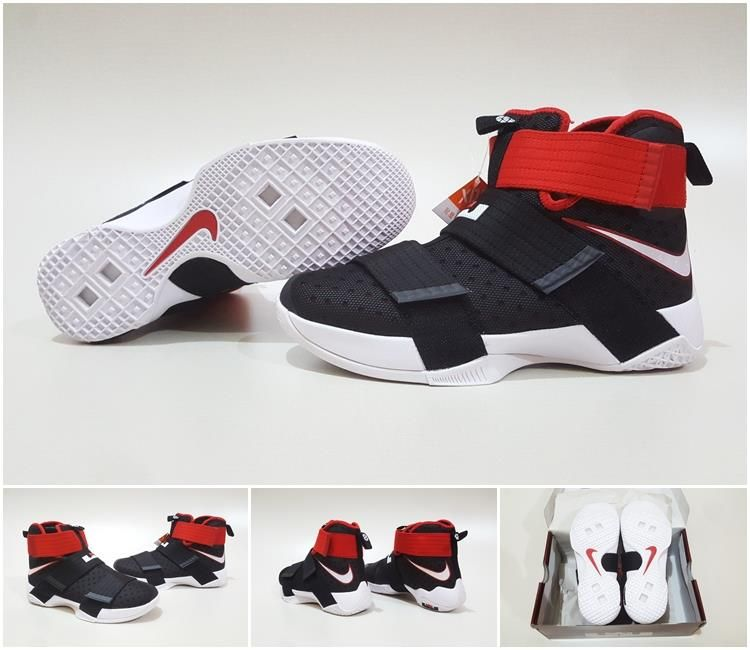 Jual Sepatu Basket Nike Lebron Soldier 10 Bred Black Red Hitam Merah Elite Basketball Store Tokopedia Sepatu Basket Sepatu Nike Lebron