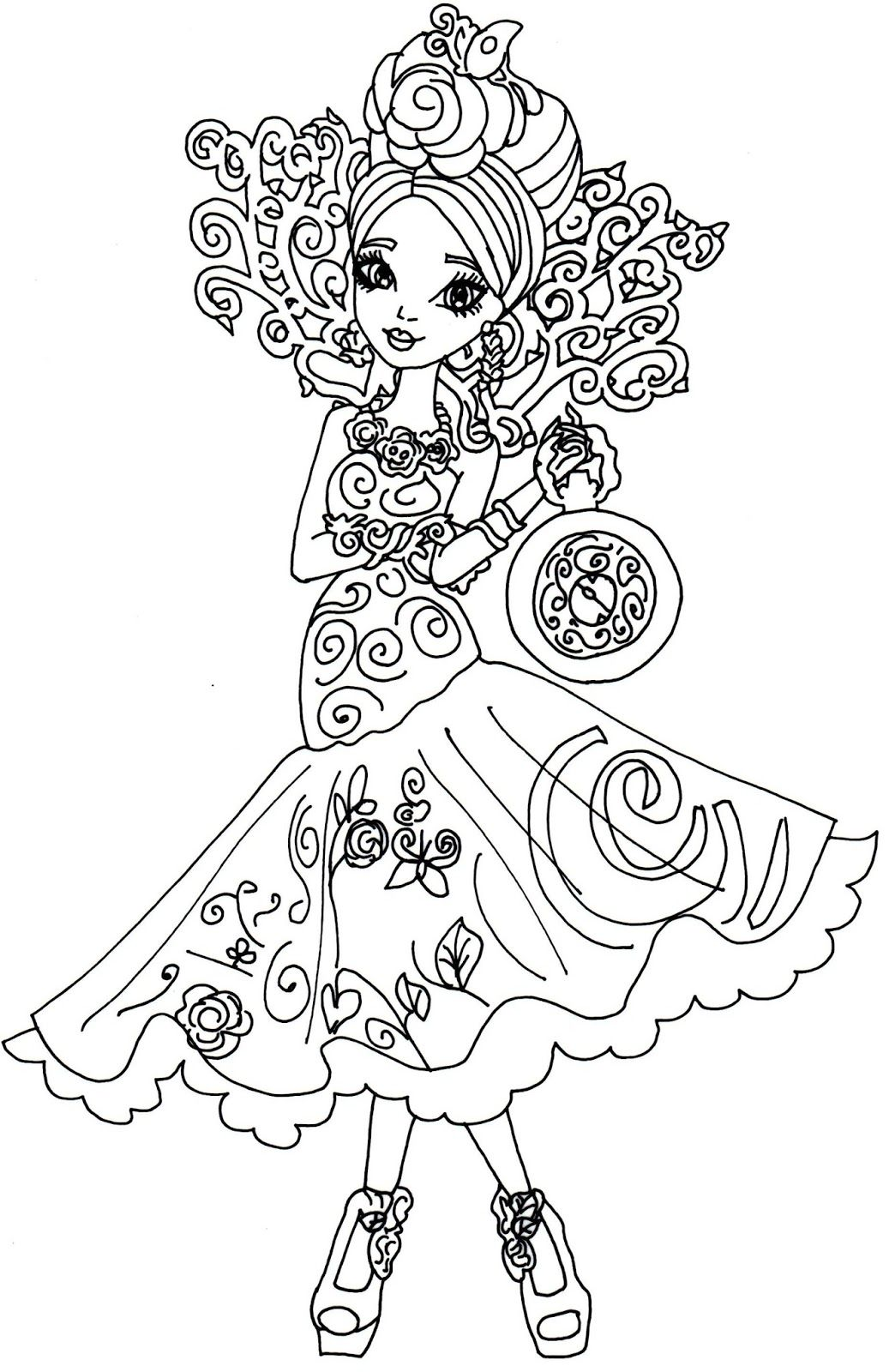 Briar Beauty Way Too Wonderland Ever After High Coloring Page Jpg