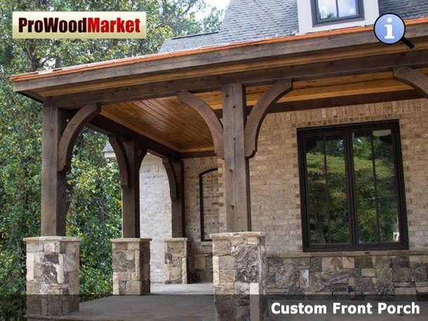 Cedar Porch Brackets Custom Front Porch Recipes Pinterest Screened Porches Porch