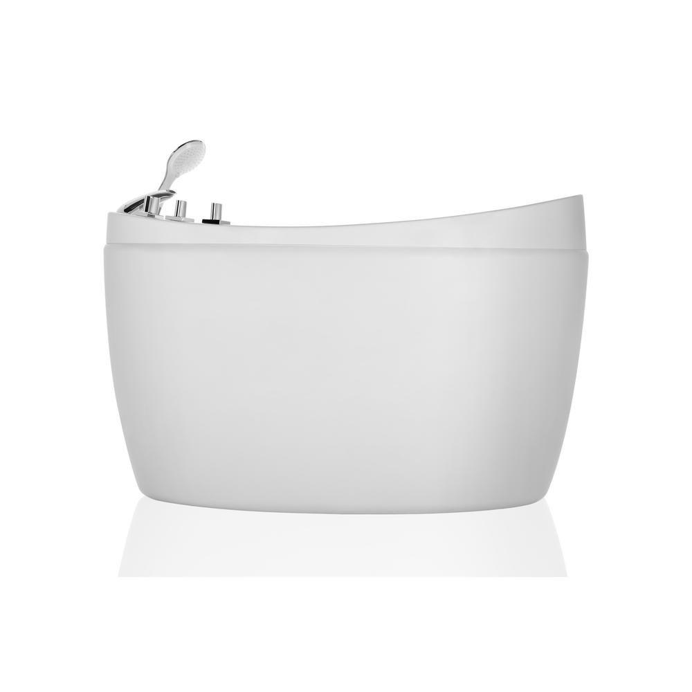 Empava 48 In Freestanding Whirlpool Massage Jacuzzi Bathtub