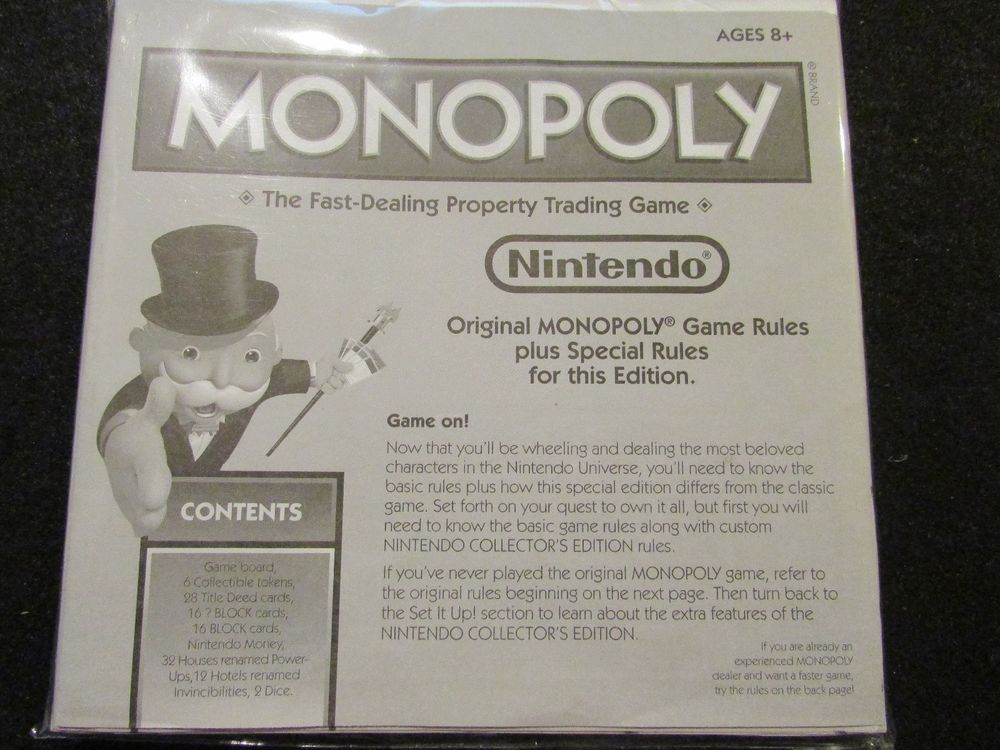 2010 Monopoly Nintendo Edition Instructions Monopoly And Nintendo