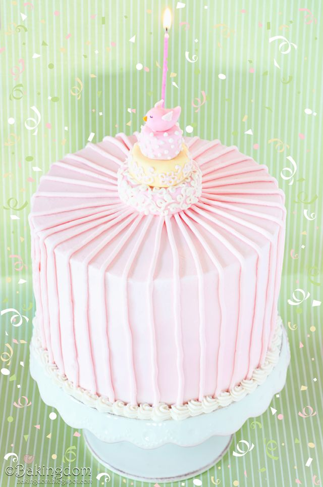 My 1st blogiversary cake. <3