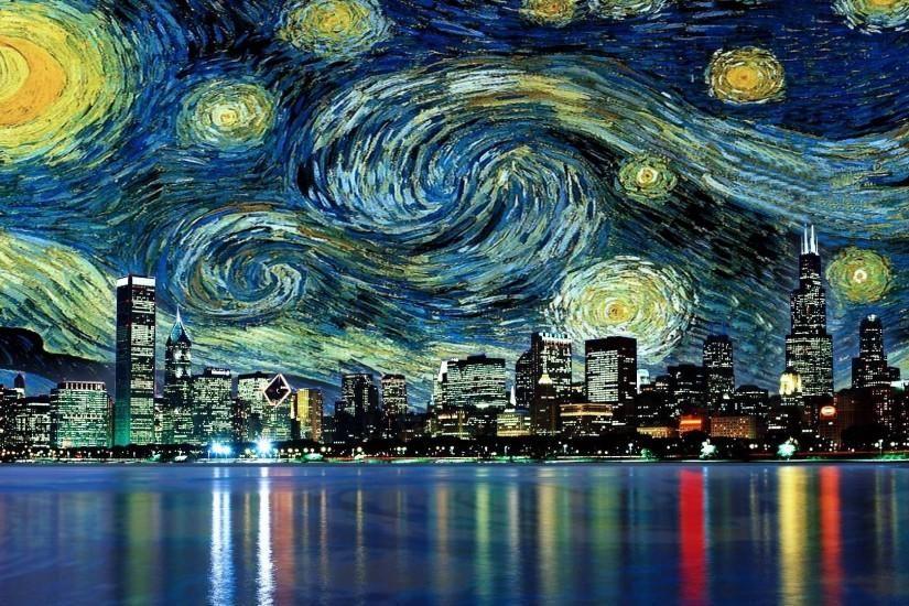Van Gogh Desktop Wallpapers Wallpaper Cave Starry Night Van Gogh Starry Night Wallpaper Gogh The Starry Night
