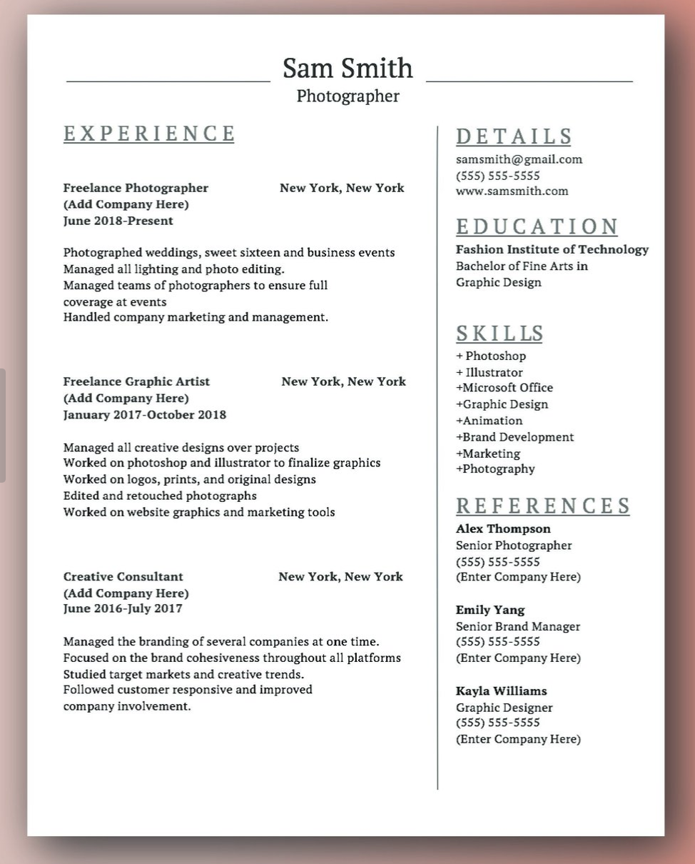 this resume creative download is quick and easy to use