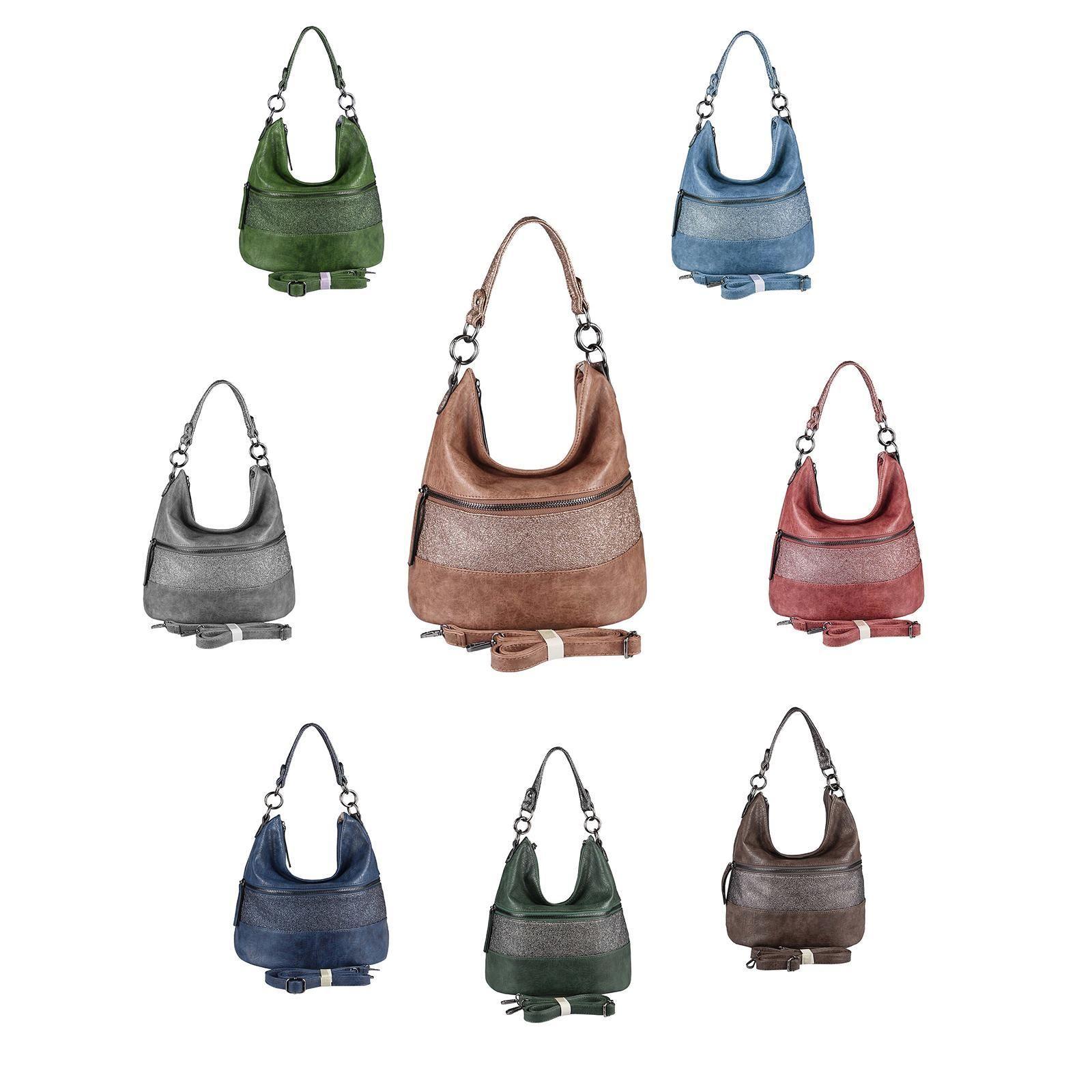 Damen hand tasche hobo bag umhängetasche schultertasche