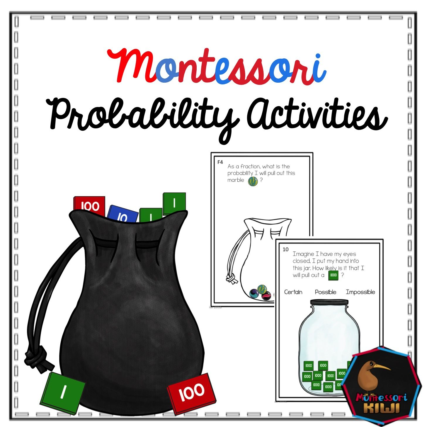 Probability Pack Montessori Elementary Math Montessori Math Probability Math Probability Activities