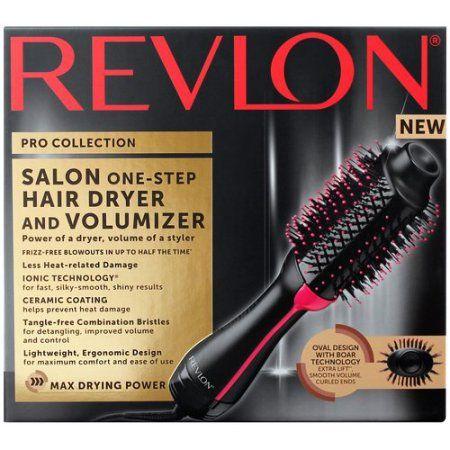 Revlon One Step Hair Dryer Volumizer Hot Air Brush Black Blow Dryer Walmart Com Revlon Hair Dryer Hair Dryer Hair Dryer Styler