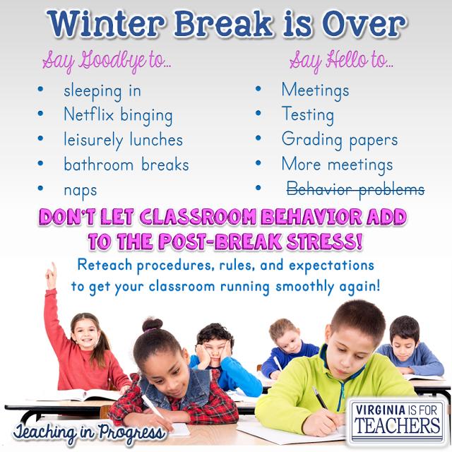 Quick tips for re-establishing those procedures after winter break.