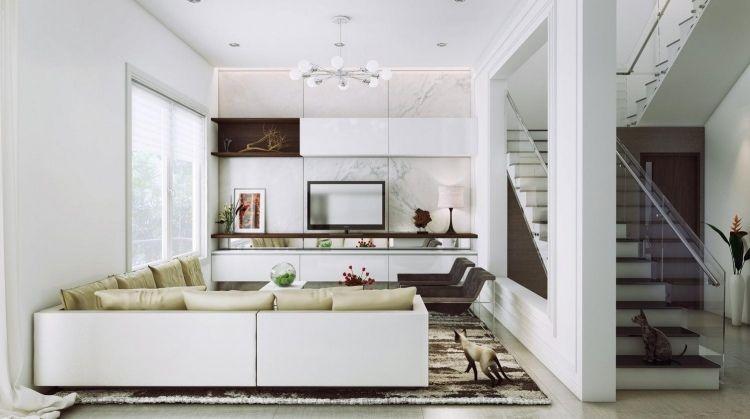 Superbe Déco Salon Blanc Pour Une Atmosphère Accueillante U2013 80 Idées Photos