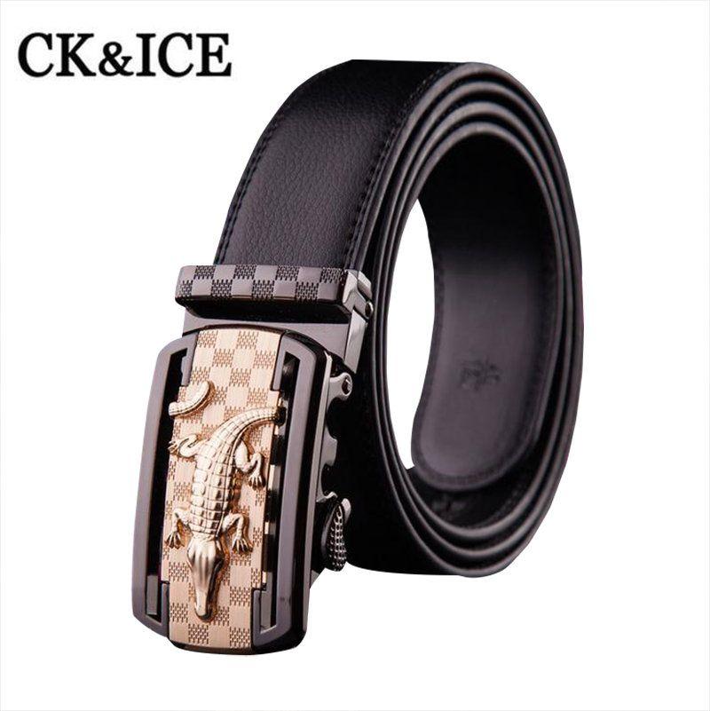 d7754fa13 2017 Automatic Buckle Mens Belts Luxury Brand Designer Belts Men High  Quality Genuine Leather Crocodile Belts