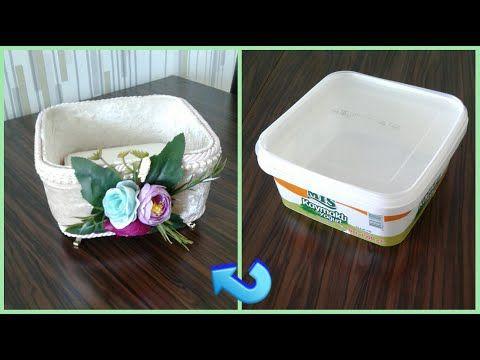 DIY : YOĞURT KABININ SÜPER GERİ DÖNÜŞÜMÜ / Recycle / Kendin …