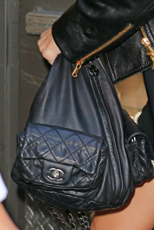 375b254db749 Miley Cyrus is just bein' Miley with her Chanel Backpack.   Bag ...