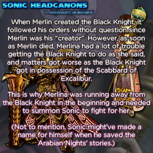 "When Merlin created the Black Knight, it followed his orders without question since Merlin was his ""creator"". However, as soon as Merlin died, Merlina had a lot of trouble getting the Black Knight to..."