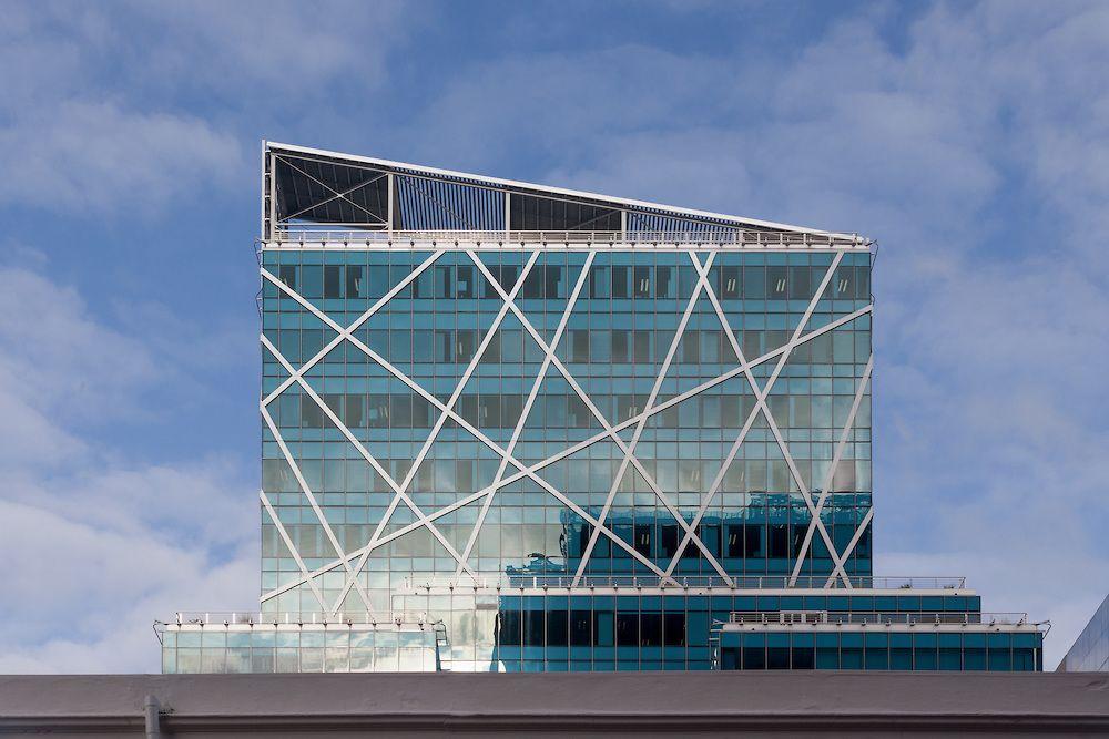 Modern Commercial Building Facades Modern striped facade of