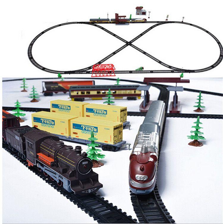 Conjunto Classico Retro Trem A Vapor Moderno Conjunto De Trem Ferroviario Eletrico Brinquedos De Carro Para C Toy Trains Set Electric Train Sets Best Kids Toys