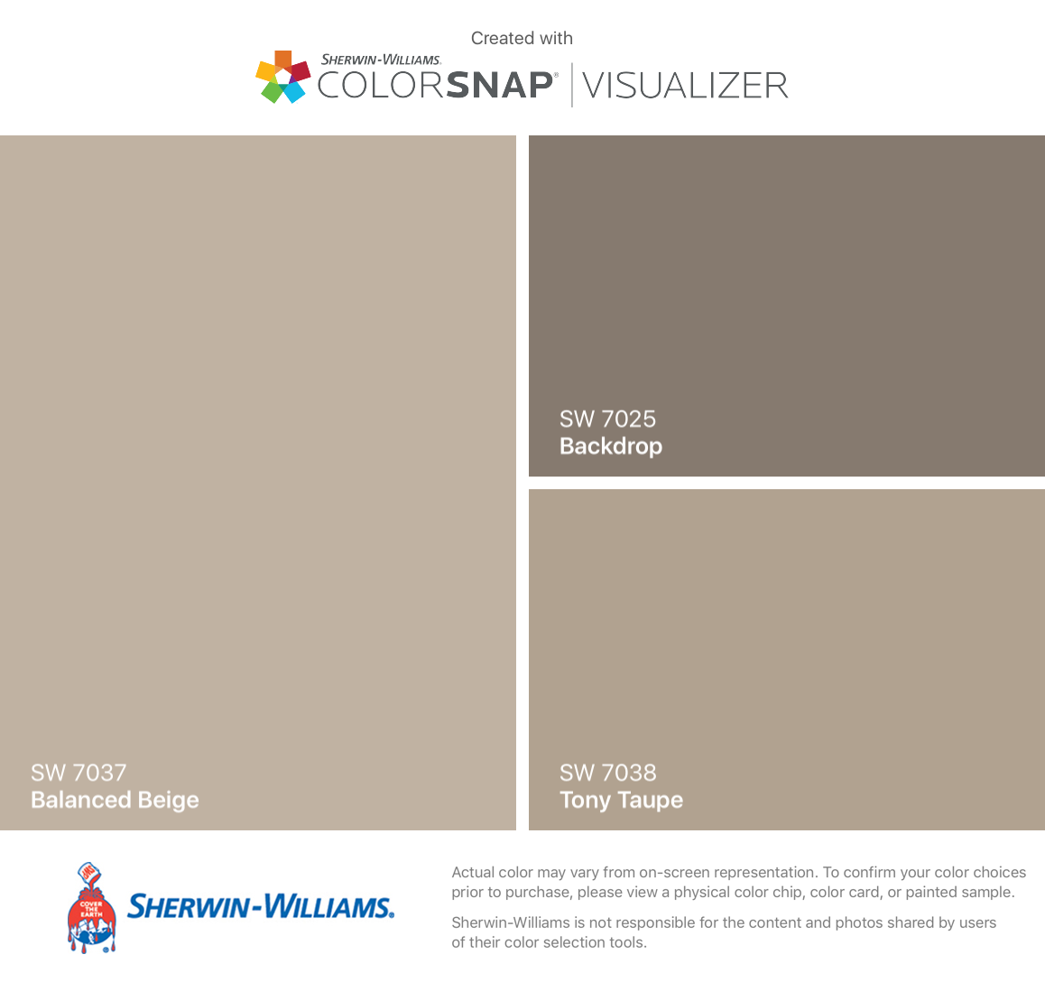 I Found These Colors With Colorsnap Visualizer For Iphone By Sherwin Williams Balanced Beige