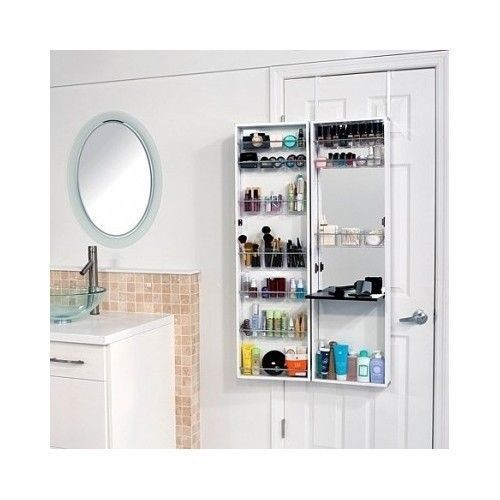 Bathroom Storage Armoire Cabinet Bath Organizer Mirror Over The Door Makeup