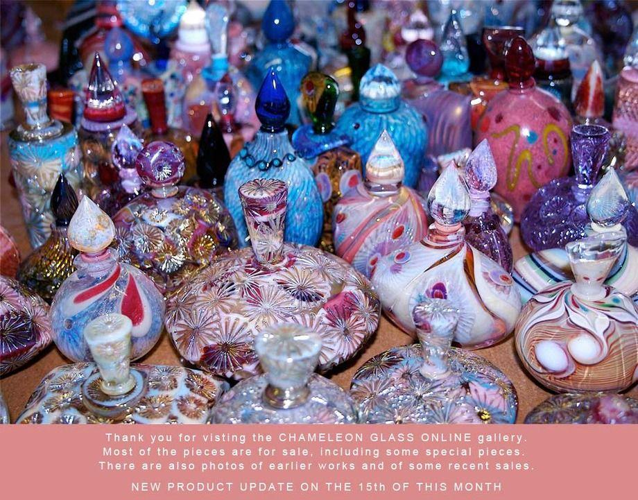 ガラス作家のリチャード・クレメンスさんの香水瓶