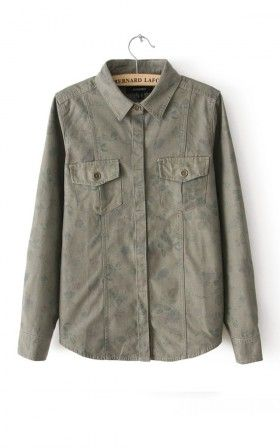 flowered army - the jacket/button-up