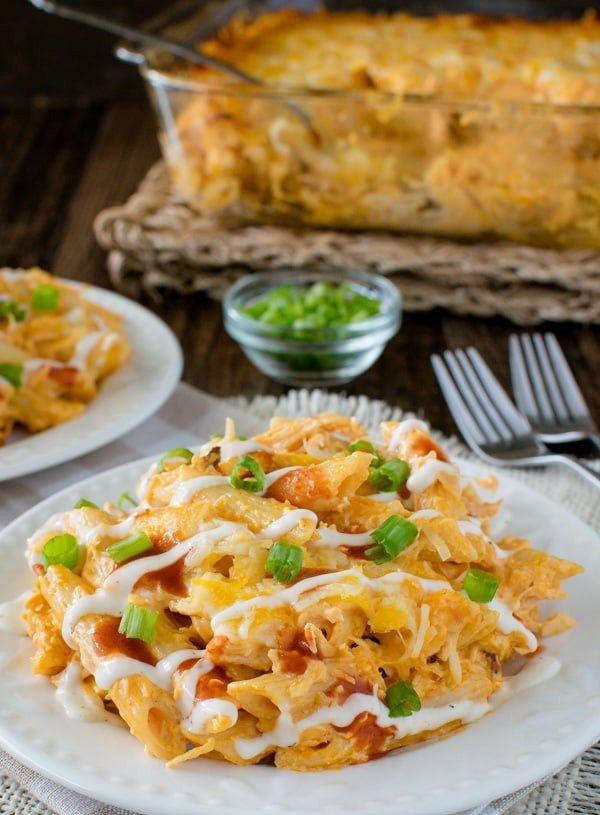 Sehr Recipes-Fitness | Buffalo Chicken Pasta Bake | Pasta Recipes  RQ27