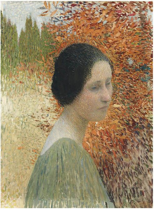Portrait of a woman - Henri Martin