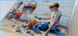 """The Boys"", by low country artist Jennifer Black. Printed on Canvas. Great Selection of Coastal Cards , Prints & Canvases"