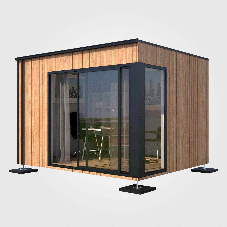 Bureau De Jardin Bois Boximby 9 M En 2020 Bureau De Jardin Studio De Jardin Chalet De Jardin Habitable