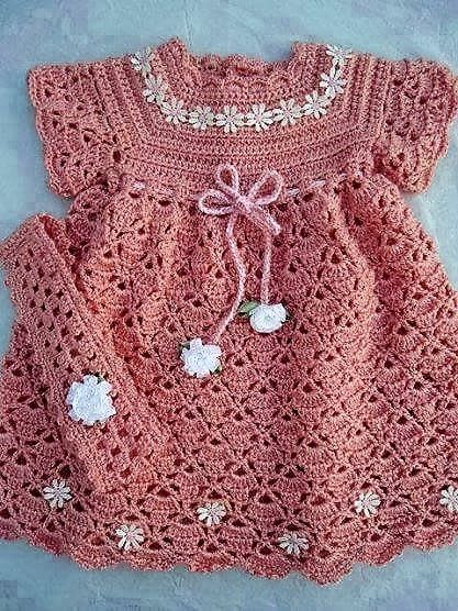patrón de vestido de crochet de hilo para niños - ☀ hilados y ganchillo 171108ca2b24