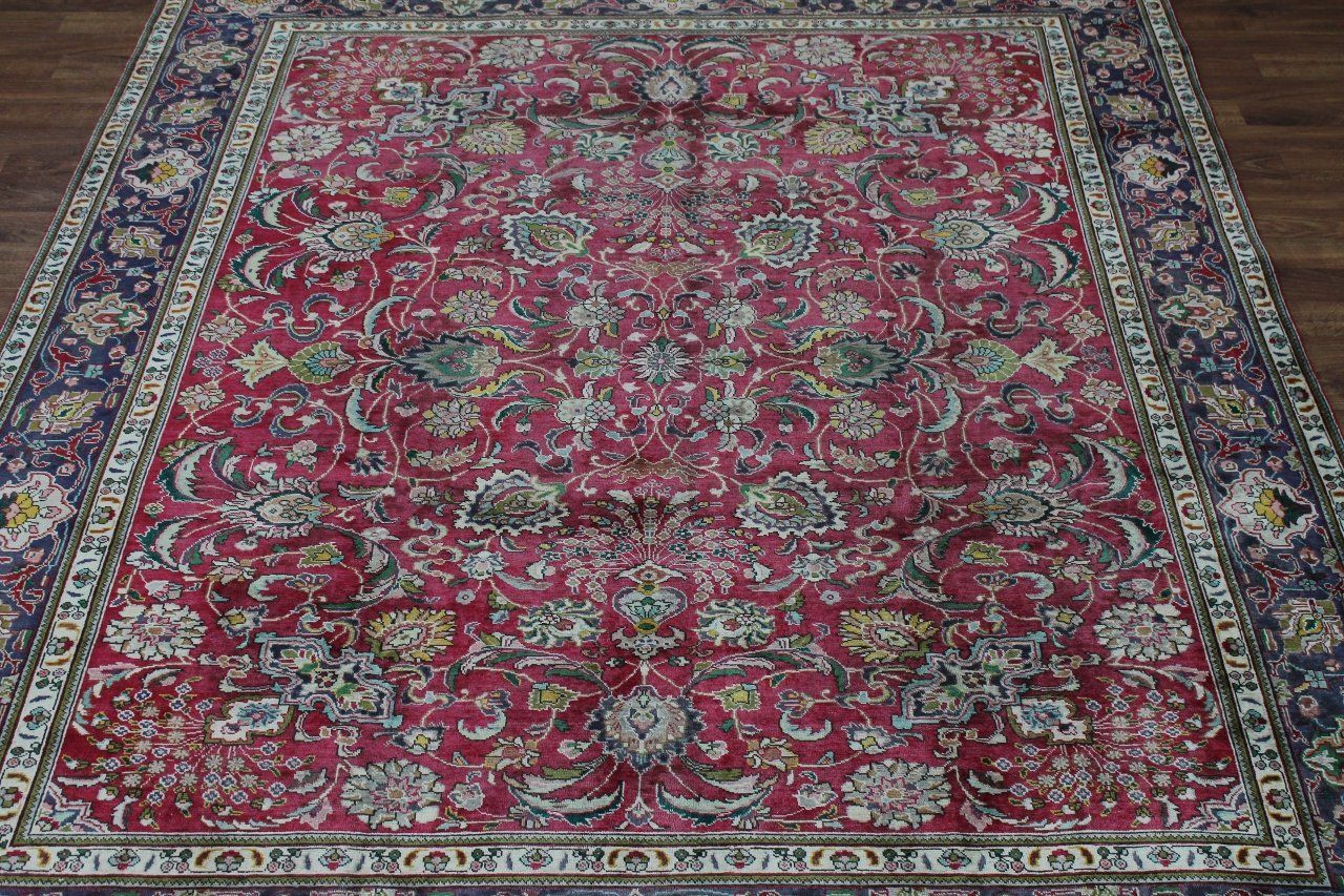 Amazon Com All Over Floral Handmade Antique Tabriz Persian Style Oriental Area Rug Carpet 10x12 Home Kitchen Rugs On Carpet Oriental Area Rugs Bohemian Rug