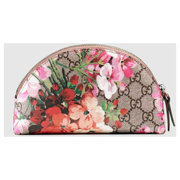 47a2b6fd42c Gucci Gg Blooms Cosmetic Case ( 255) ❤ liked on Polyvore featuring beauty  products