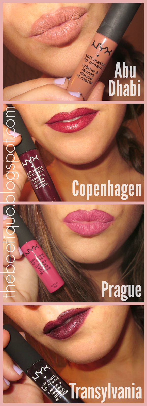 Nyx Soft Matte Lip Cream Transylvania Copenhagen Prague Abu Inez Contour Plus Lipstick Riviera Blush Dhabi Review Swatches Via Thebeetiqueblogspotcom