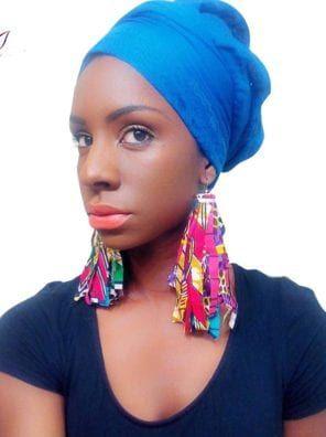 BRW 2019 Fabric African Earrings For Women Handmad