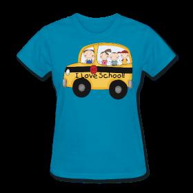 I Love School! bus http://kreativeinkinder.spreadshirt.com/