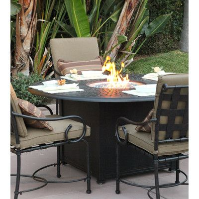 Darlee Series 60 Fire Pit Table Finish Antique Bronze Fire Pit