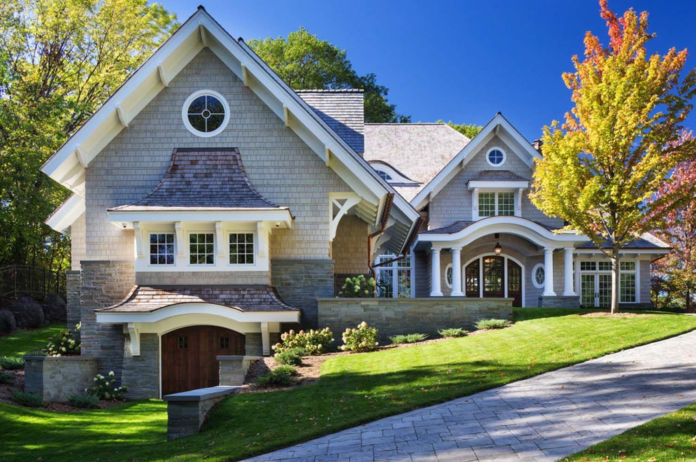 breathtaking shingle style residence on lake minnetonka on lake home colors id=45141
