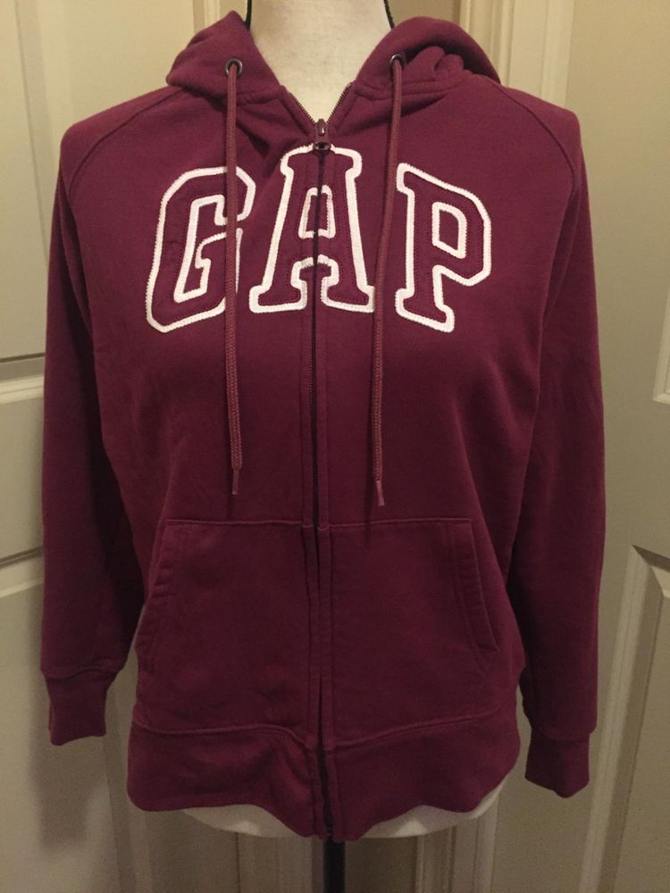 bc891acd76ce3 Women's GAP Hoodie Sweatshirt Maroon Size Large / L #fashion #clothing  #shoes #accessories #womensclothing #activewear (ebay link)