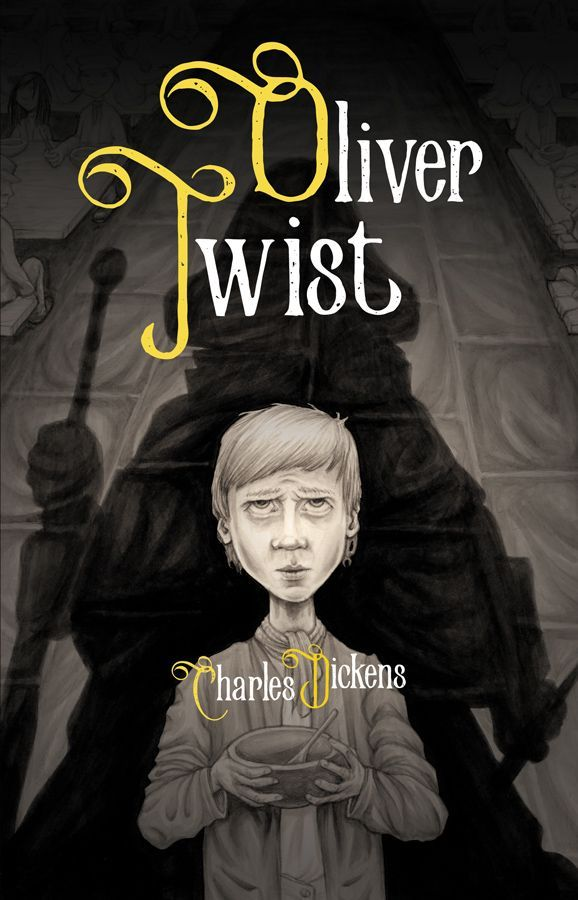The illustrated book club oliver twist book cover black and oliver twist fandeluxe Choice Image
