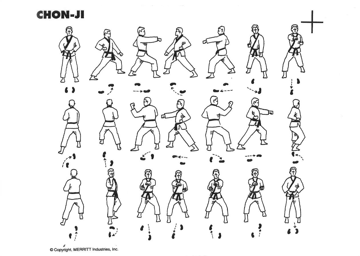 martial arts diagram air conditioning thermostat wiring chon ji tae kwon do pinterest