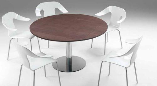 Tavoli allungabili rotondi moderni tavolo vetro acciaio allungabile ...