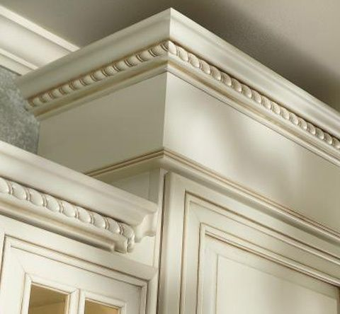 Cream crown molding kitchens yahoo image search for Kitchen cabinets crown molding ideas