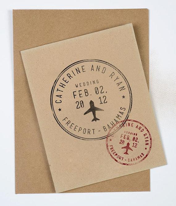 Passport Wedding Stamp Personalized Destination Wedding Stamp Destination Wedding Stamp Passport Style Stamp Wedding Save The Date Stamp Wedding Stamp Passport Wedding Travel Theme Wedding