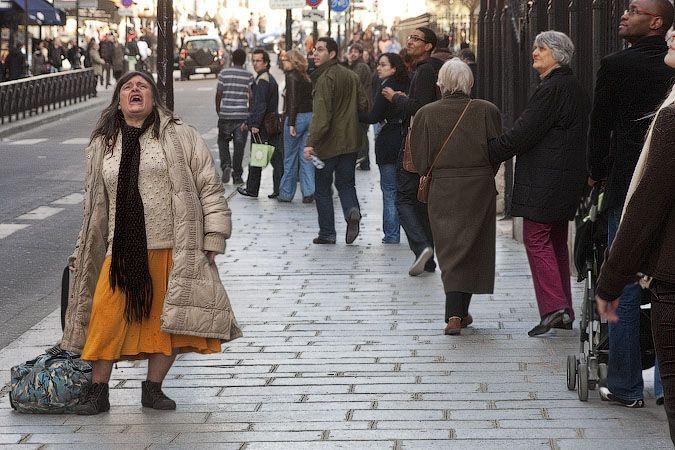 Homeless Lady Woman Standing Women Lady