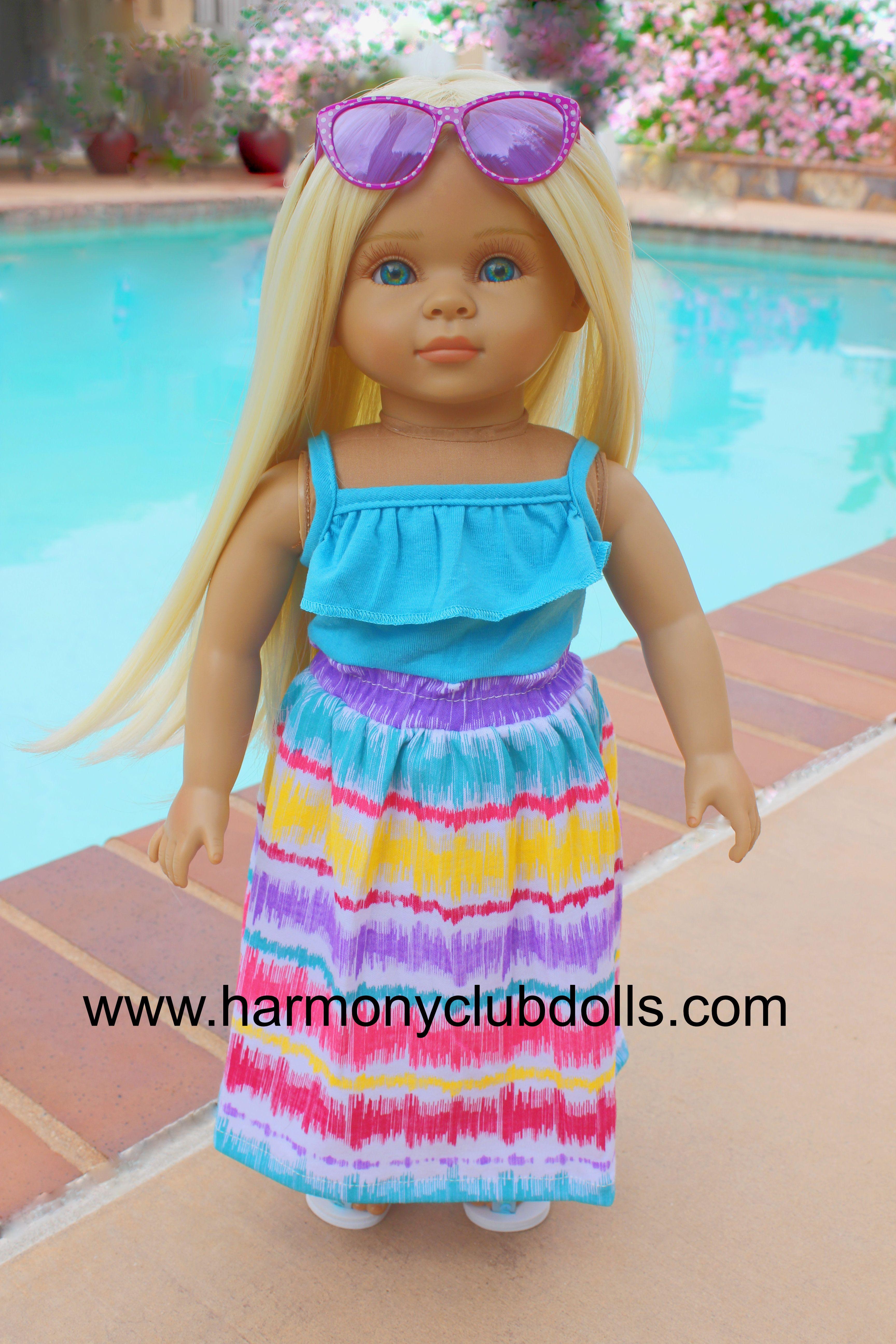 """HARMONY CLUB DOLLS 18"""" Dolls and 18"""" Doll clothes www.harmonyclubdolls.com"""