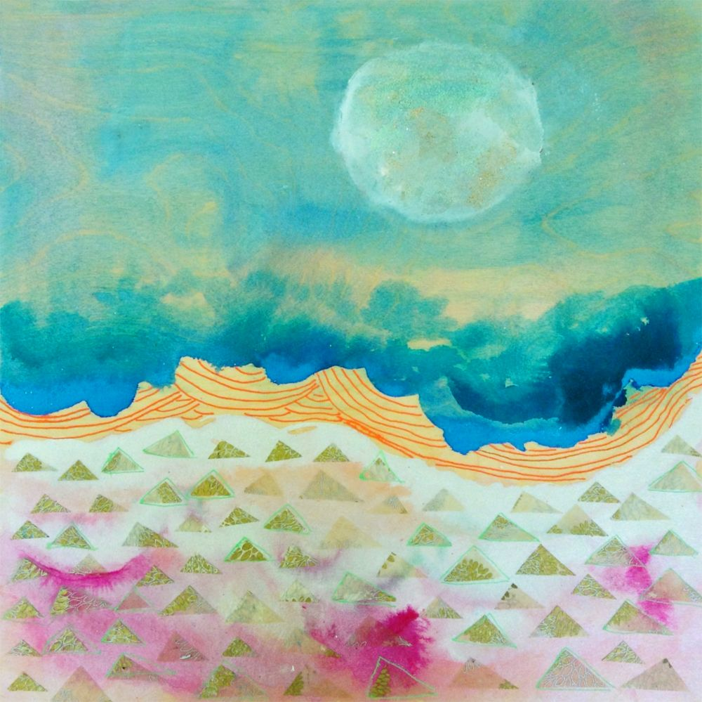 Original painting by Alena Hennessy on wood panel