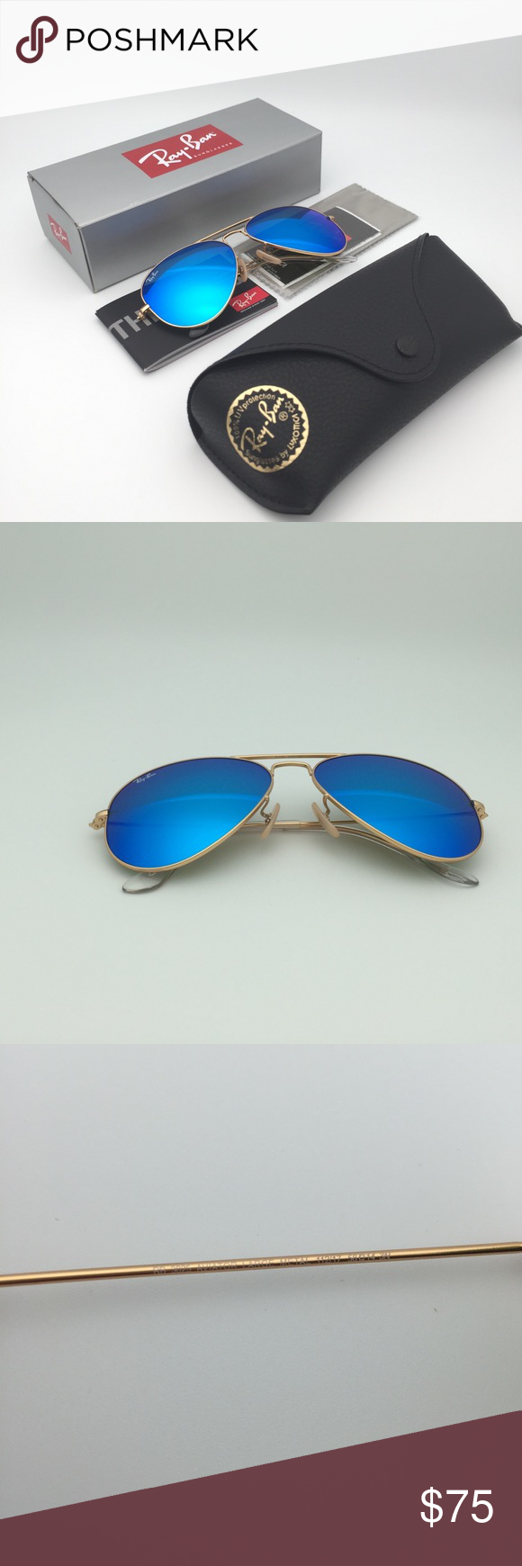 c5b2e19dd07d2 3025 112 17 Blue Mirror Sunglasses Ray-Ban Aviator Model  RB3025 112 17  58-14 Made in Italy Firm on price By USPS paper box