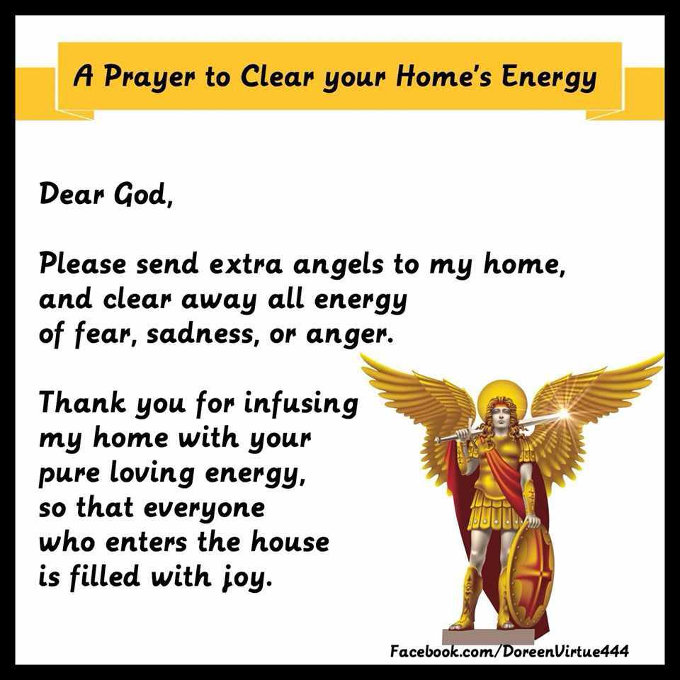 Prayer to clear negative energy from your home | Prayers