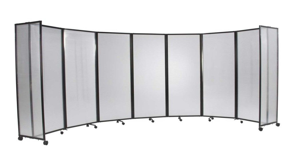 Versare Wide Plastic Folding Mobile Room Dividers Temp Walls