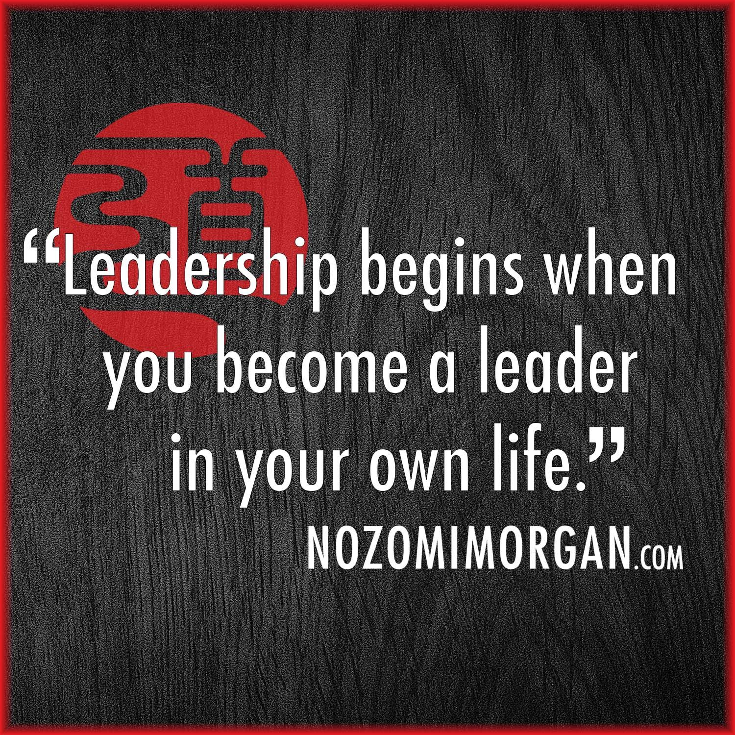 Become the leader of your own life 82
