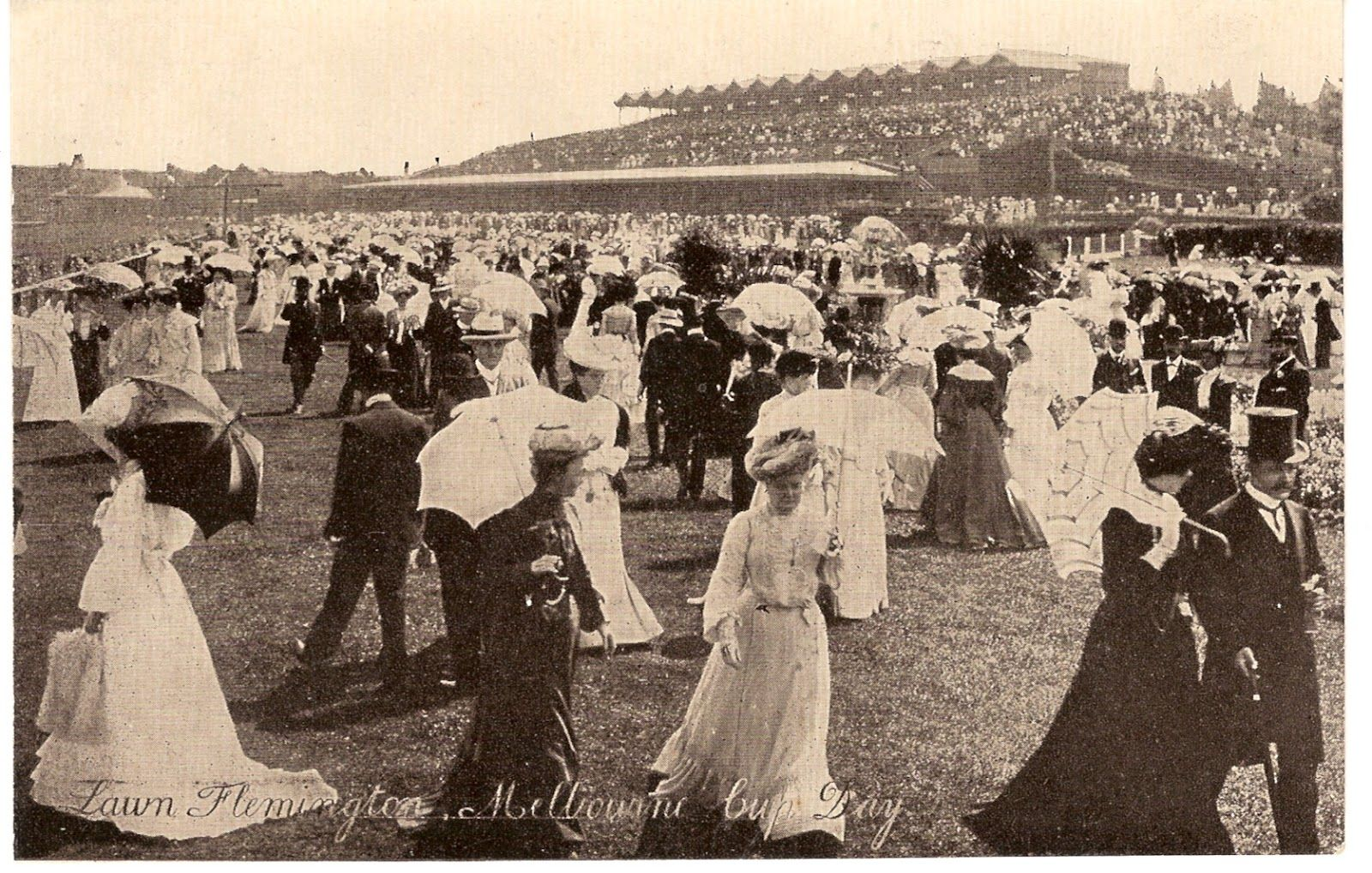 Melbourne Cup in the early 1900s