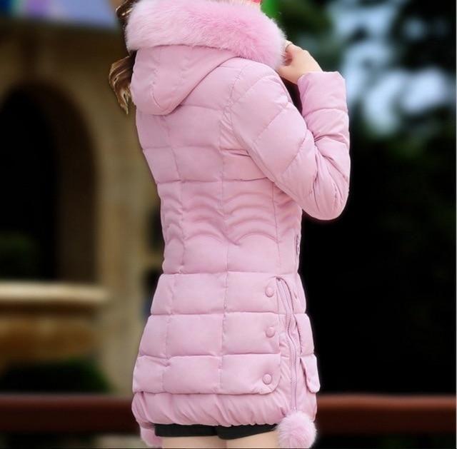 RICORIT Winter Jacket Women Fur Hooded Thicken Coat Woman